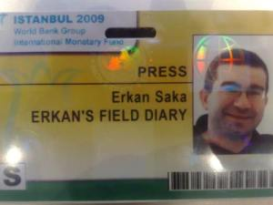 A new turn in Erkan's Field Diary history. Receiving official invitation to press room...